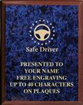 Safe Driving Award Plaque, Classic Wood