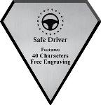 Safe Driving Award Plaque, Silver Diamond
