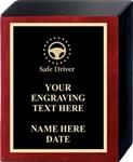 Safe Driving Award Plaque, Rosewood Folio