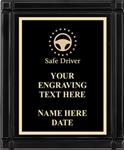 Safe Driving Award Plaque, Black Piano