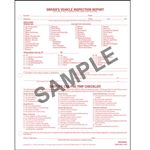 Detailed Driver's Vehicle Inspection Report, CSA Checklist, Snap-Out