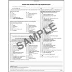 Illinois School Bus Driver Vehicle Inspection Report NCR, Book Format