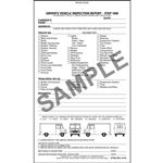 Detailed Drivers Vehicle Inspection Report, Step Van, Book Format