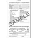 Detailed Drivers Vehicle Inspection Report School Bus, Book Format, Personalized