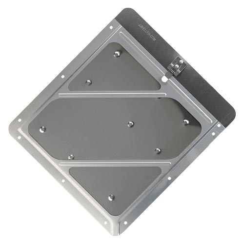 Rivetless Aluminum Wide Edge Placard Holder with Back Plate