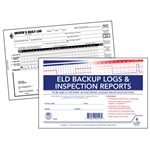 ELD BackUp Log Book, DVIR, 2-Part, Recap