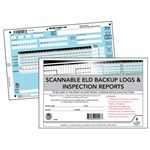 Scannable ELD Backup Log Book, DVIR, 2-Part, Recap