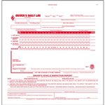 2 In 1 Driver's Daily Log Book, Simplified DVIR, 3-Ply, Carbonless,