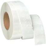 Solid White Conspicuity Tape for Tractor Trailers