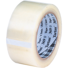 "2"" x 55 yds. Clear 3M 369 Carton Sealing Tape"