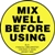 Mix Well Before Using - Label