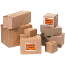 "7"" x 7"" x 3"" Flat Corrugated Boxes, 25ct"