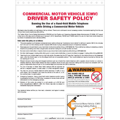 Commercial motor vehicle cmv driver safety policy truck for Motor vehicle id price