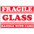 "2"" x 3"" - Fragile - Glass - Handle With Care Labels"