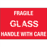 "2"" x 3"" Fragile - Glass - Handle With Care Labels"