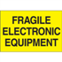 "2"" x 3"" Fragile-Electronic Equipment Fluorescent Yellow Labels"