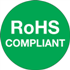 "1"" Circle RoHS Compliant Green Labels"