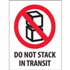"3"" x 4"" Do Not Stack In Transit Labels"