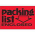 "2"" x 3"" Packing List Enclosed Fluorescent Red Labels"