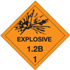 "4"" x 4"" Explosive 1.2B - 1 Shipping Labels"