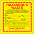 "6"" x 6"" Hazardous Waste - California Labels"