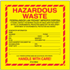 "6"" x 6"" Hazardous Waste - New Jersey Labels"
