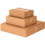 "10"" x 10"" x 2"" Flat Corrugated Boxes"