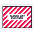 "4 1/2"" x 6"" Red Striped Packing List Enclosed Envelopes"