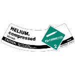UN 1046 Helium Compressed Shoulder Label