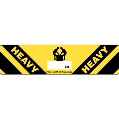 Heavy Label Two Person Paper Warehouse Labels Hvy501