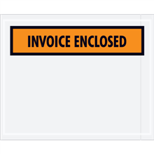 "5 1/2"" x 10"" Orange Invoice Enclosed Envelopes"