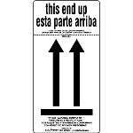 This End Up Air Label - Inner Packages Comply - Bilingual