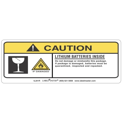 Lithium Ion Battery Label For Shipping