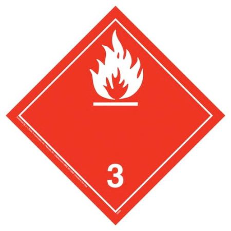 International Flammable Wordless Placard, Tagboard