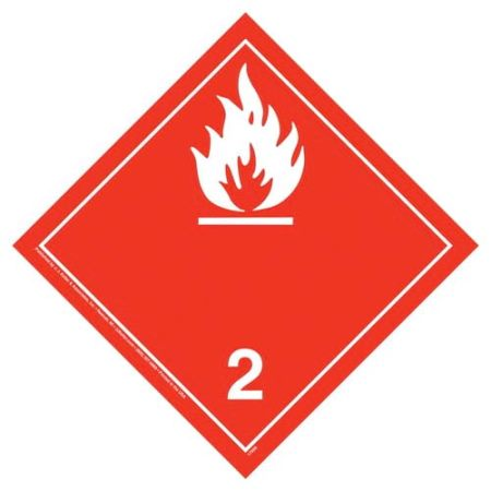 International Flammable Gas Wordless Placard