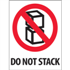 "3"" x 4"" Do Not Stack Labels"