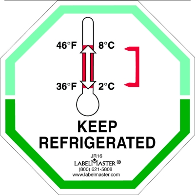 Keep Refrigerated Label