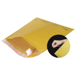 "4"" x 8"" Kraft Self Seal Bubble Mailers w/Tear Strip"
