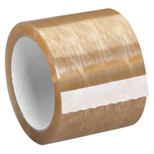"3"" x 110 yds. Clear 1.7 Mil Natural Rubber Tape"