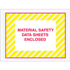 "4 1/2"" x 6"" Yellow Striped Material Safety Data Sheets Enclosed Envelopes"