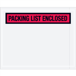 "5 1/2"" x 10"" Red Packing List Enclosed Envelopes"