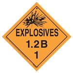Explosives 1.2 B Placard, Tagboard
