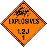 Explosive Class 1.2 J Placard