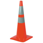 "28"" Traffic Safety Cone w Reflective Collars"