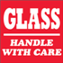 "4"" x 4"" Glass - Handle With Care Labels"