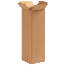 "7"" x 7"" x 14"" Tall Corrugated Boxes, 25ct"