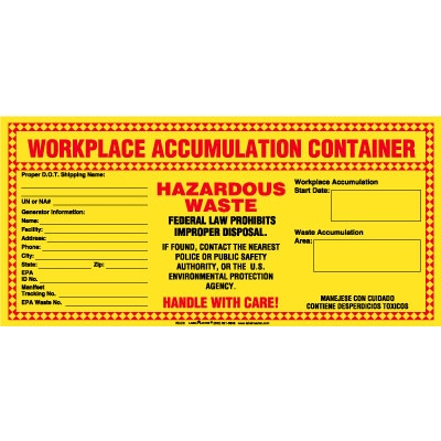california waste label accumulation hazardous waste - Hazardous Waste Labels