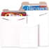 "5 1/8"" x 5 1/8"" White Flat Mailers"