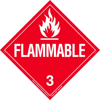Flammable Removable Vinyl Worded Placard