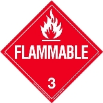 Flammable Liquid Tagboard Worded Placard